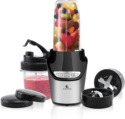 EverKing High-Speed Food Extractor Juicer Smoothies Maker Nutri Power Blender Mixer 8 Piece Set Food Fruit Processor - 1000 Watt